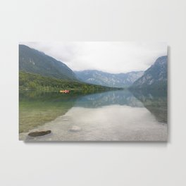 Kayaking on Lake Bohinj Metal Print