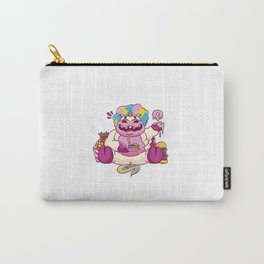 Fat Unicornes Eating sweets cake donuts food Lover Carry-All Pouch