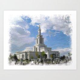 Columbia River Washington LDS Temple Art Print