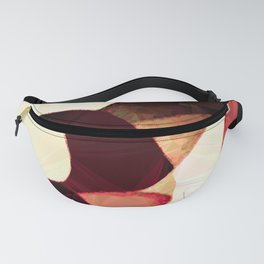 Baroque Burgundy Copper Ivory Maximum Abstract Art Fanny Pack