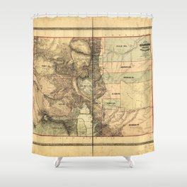 Map of Colorado Territory embracing the Central Gold Region (1862) Shower Curtain