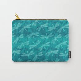 Dragonfly Dance Blue Green Carry-All Pouch