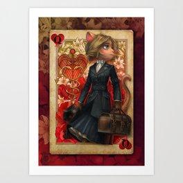 Lackadaisy - Queen of Hearts Art Print