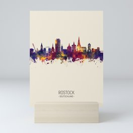 Rostock Germany Skyline Mini Art Print