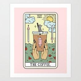 COFFEE READING UPDATED (LIGHT) Art Print
