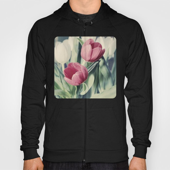 Twin Tulips in Pastel Pink Hoody