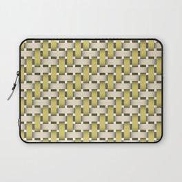 Golden Woven Basket-Look Laptop Sleeve