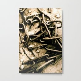 Chains in the garden sand Metal Print