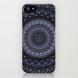 Dark gray mandala iPhone Case