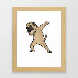 Funny Dabbing Bullmastiff Dog Dab Dance Framed Art Print