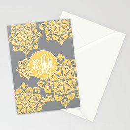 Floral Designs with yellow and grey colour Stationery Cards