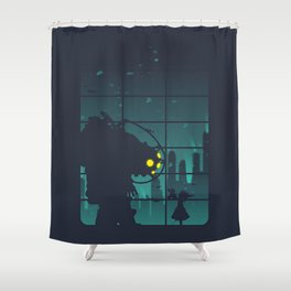 bioshock big daddy Shower Curtain