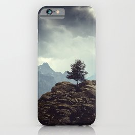 Majestic Mountains and a lone tree iPhone Case