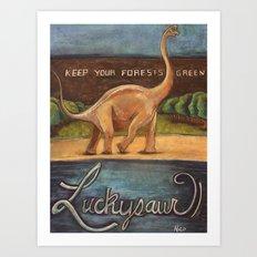 Luckysaur Art Print