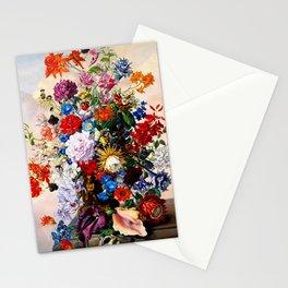 Floral Still Life by Sebastian Wegmayr - Vintage Painting Stationery Cards