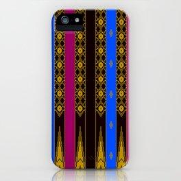 Ethno Buginese Sabbe Pattern 04 iPhone Case