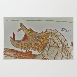Alligator Snapping Turtle Rug