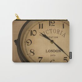 Old black wall clock that points ten twenty-three Carry-All Pouch