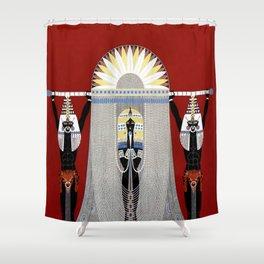 """The Egyptian"" Art Deco Illustration Shower Curtain"