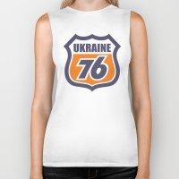 ukraine Biker Tanks featuring DgM UKRAINE 76 by DgMa