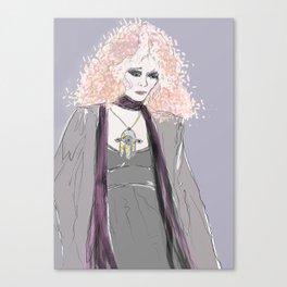 Lady Gray Canvas Print