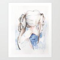 #sadgirl Art Print