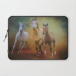 Wild Horses In The Fall Laptop Sleeve