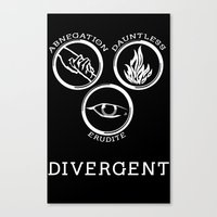 divergent Canvas Prints featuring Divergent (White) by Lunil