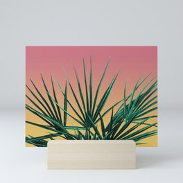 Vaporwave Palm Life - Miami Sunset Mini Art Print
