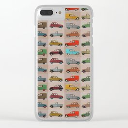 2CV pattern (red) Clear iPhone Case
