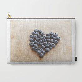 Blueberry Heart Carry-All Pouch