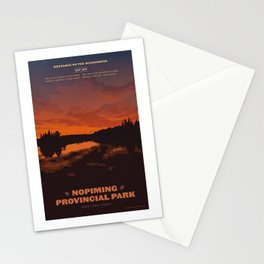 Nopiming Provincial Park Poster Stationery Cards