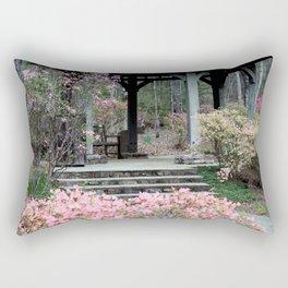 Azalea Bush and Gazebo Rectangular Pillow
