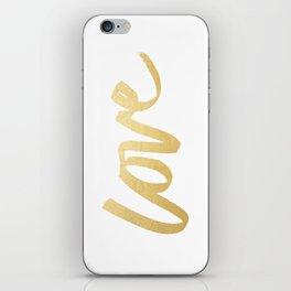 Love Gold White Type iPhone Skin