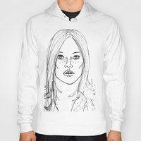 kate moss Hoodies featuring Kate Moss by Erika's Art Shoppe