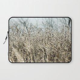 Aqua Wild meadow grass in winter Laptop Sleeve