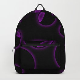 Abstract fractal background with empty black circle Backpack