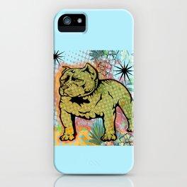 Cool dog pop art iPhone Case