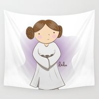 leia Wall Tapestries featuring Leia by Lalu - Laura Vargas