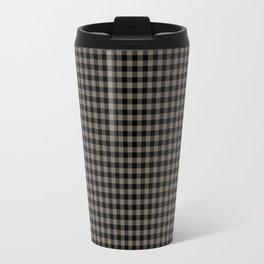 Mini Black and Sandstone Brown Western Cowboy Buffalo Check Travel Mug