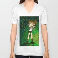 sailor jupiter V-neck T-shirts featuring Sailor Jupiter by Thedustyphoenix
