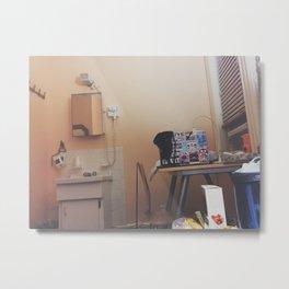 Simple Hotel Room Picture Metal Print