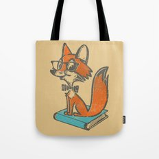 Fox Librarian - A Well Read Fox Tote Bag