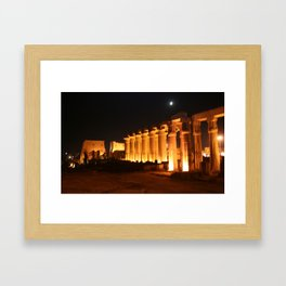 The night and the moon at Temple of Luxor, no. 29 Framed Art Print