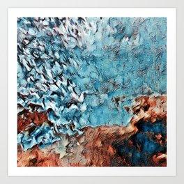 Blending Mountain and Ocean Art Print