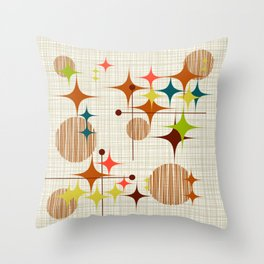 Starbursts and Globes 4 Throw Pillow
