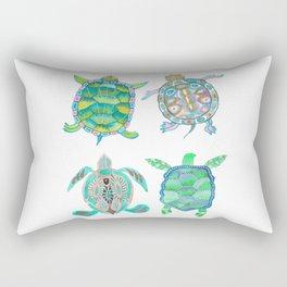 The four green turtles Rectangular Pillow
