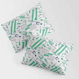 Murder pattern Green Pillow Sham