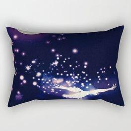 MOONLIGHT RAVEN Rectangular Pillow