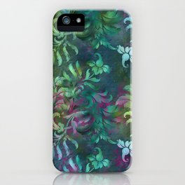 Jungle Floral Neck Gator Purple and Green Jungle Flowers iPhone Case